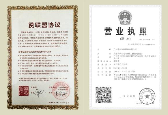 赞联盟协议及营业执照